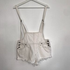 Free People Jeans - Free People Strappy Shorttalls white overalls